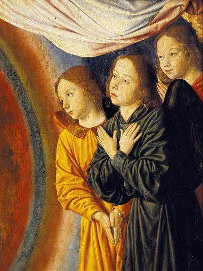 Angels, Detail from Right Side of Central Panel with Madonna Enthroned with Angels--Giclee Print