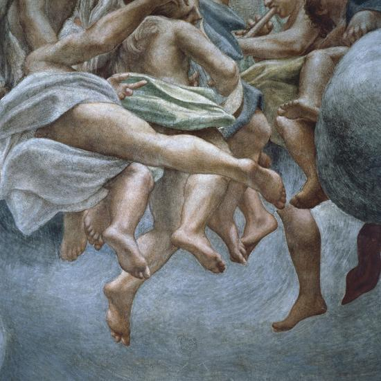 Angels, Detail of Frescoes from Section of Abraham and Isaac, from Dome of Parma Cathedral-Antonio Allegri Da Correggio-Giclee Print