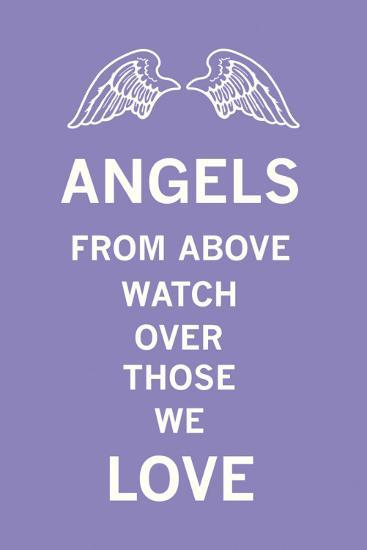 Angels From Above Watch Over Those We Love-The Vintage Collection-Art Print