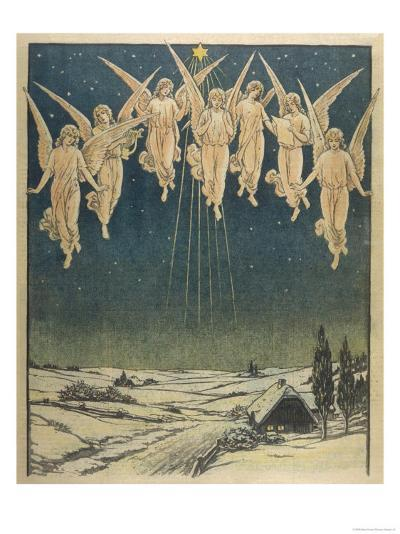 Angels Hovering Over the Swedish Countryside--Giclee Print
