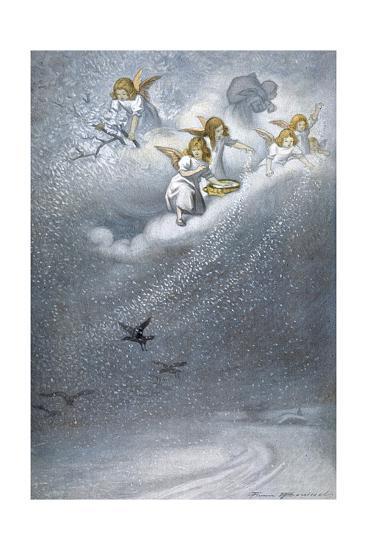 Angels Make Snow--Giclee Print