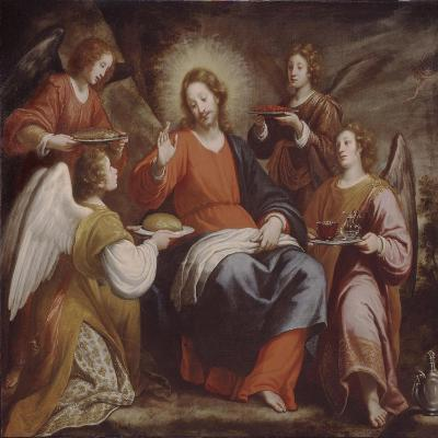 Angels Ministering to Christ in the Wilderness-Matteo Rosselli-Giclee Print