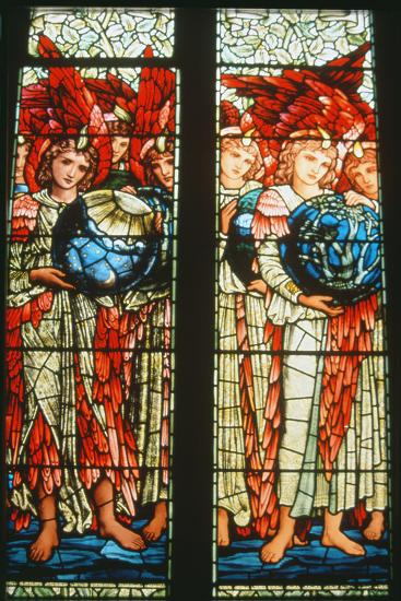 Angels of Creation: the Third and Fourth Days by Sir Edward Burne-Jones (1833-98)--Photographic Print