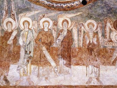 Angels of Heavenly Court, Romanesque Fresco in Abbey Church of Saint-Theodore--Giclee Print