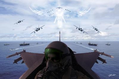 Angels Overhead 1-Jason Bullard-Giclee Print
