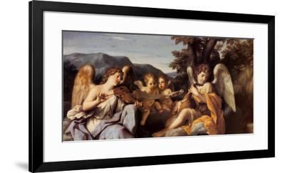 Angels Playing Music-Marcantonio Franceschini-Framed Art Print