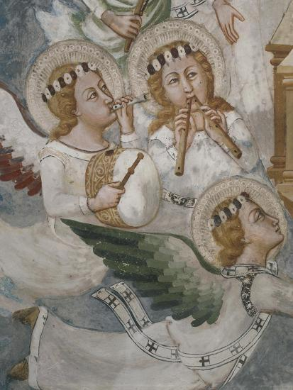 Angels Playing Musical Instrument, Detail from Assumption of the Virgin--Giclee Print