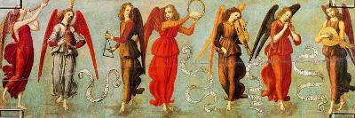 Angels Playing Musical Instruments, C.1475-97-Francesco Botticini-Giclee Print