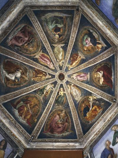 Angels Playing Musical Instruments, Evangelists and Doctors of the Church, Ca 1478-Luca Signorelli-Giclee Print