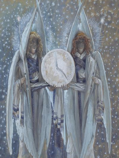 Angels Supporting a Dial Which Indicates the Hours of the Different Scenes of the Passion for 'The-James Jacques Joseph Tissot-Giclee Print