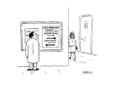 Anger Management - Cartoon-David Sipress-Premium Giclee Print