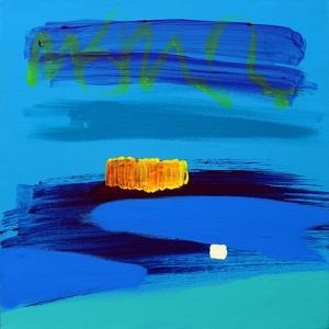 Orange and Midnight Blue by Angie Kenber