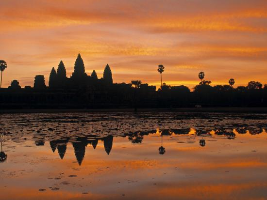Angkor Wat, Siem Reap, Cambodia-Walter Bibikow-Photographic Print