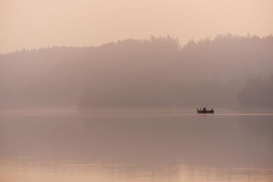 Angler in the Fog-Benjamin Engler-Photographic Print