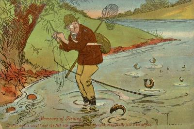 Angler with His Line Caught in a Tree--Giclee Print
