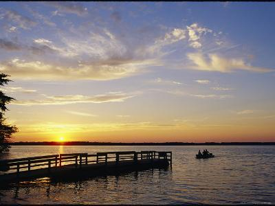 Anglers Returning to Dock, Pymatuning State Park-Skip Brown-Photographic Print