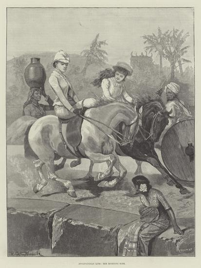 Anglo-Indian Life, the Morning Ride-Richard Caton Woodville II-Giclee Print