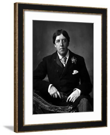 """Anglo Irish Author Oscar Wilde in the Year That """"Lady Windermere's Fan"""" Premiered--Framed Premium Photographic Print"""