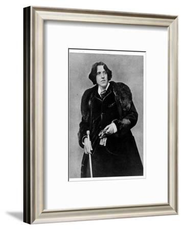 Anglo Irish Playwright Oscar Wilde at the Time of His Lecture Tour in America--Framed Premium Photographic Print