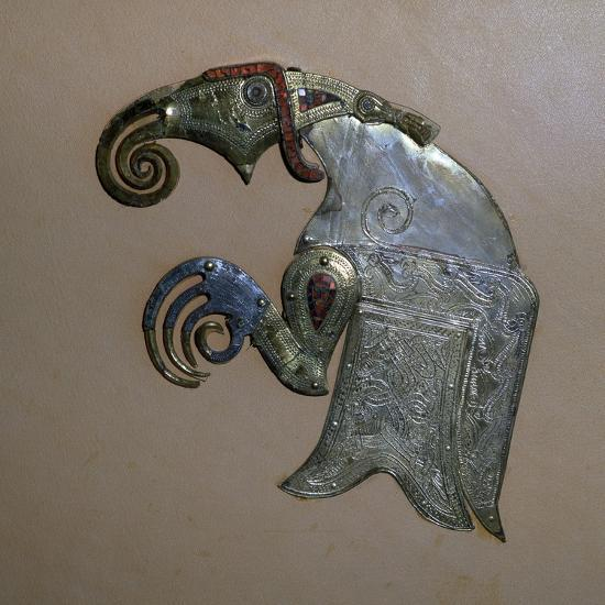 Anglo-Saxon bird ornament from the Sutton-Hoo ship burial. Artist: Unknown-Unknown-Giclee Print