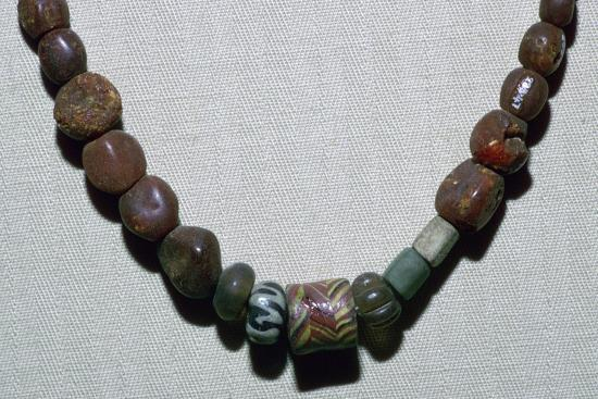 Anglo-Saxon glass necklace, 5th century. Artist: Unknown-Unknown-Giclee Print