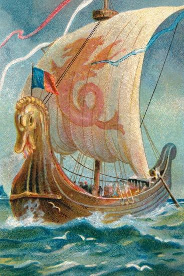 Anglo-Saxon Ship--Giclee Print