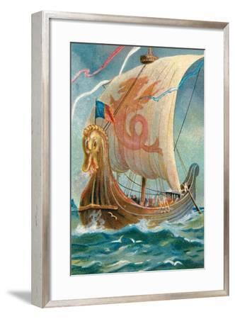 Anglo-Saxon Ship--Framed Giclee Print