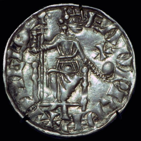 Anglo-Saxon Silver Penny of Edward the Confessor. Artist: Unknown-Unknown-Giclee Print