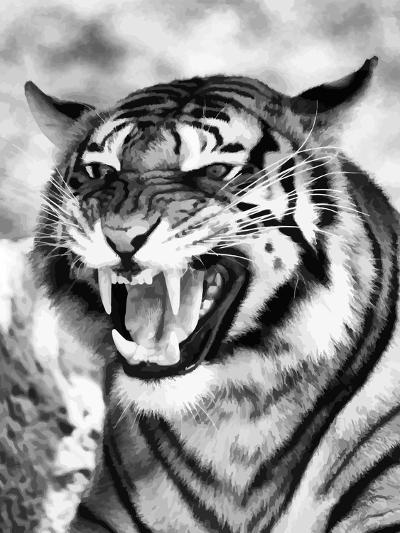 Angry Tiger Face-Snap2Art-Art Print
