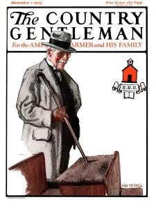 """Back to School,"" Country Gentleman Cover, December 1, 1923 by Angus MacDonall"