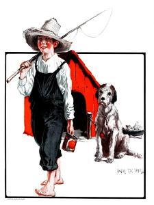 """Gone Fishing Without Fido,""August 11, 1923 by Angus MacDonall"