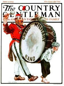 """Grand Military Band,"" Country Gentleman Cover, June 23, 1923 by Angus MacDonall"