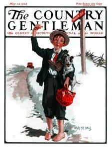 """Hitchhiking Boy,"" Country Gentleman Cover, May 23, 1925 by Angus MacDonall"