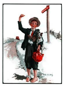 """Hitchhiking Boy,""May 23, 1925 by Angus MacDonall"