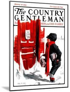 """""""No School Today,"""" Country Gentleman Cover, January 27, 1923 by Angus MacDonall"""
