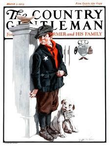 """Playing Detective,"" Country Gentleman Cover, March 3, 1923 by Angus MacDonall"