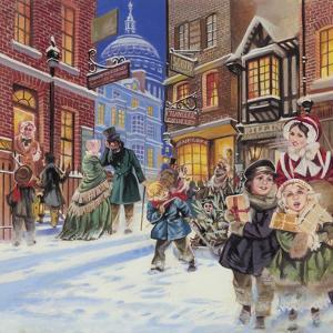 Dickensian Christmas Scene by Angus Mcbride