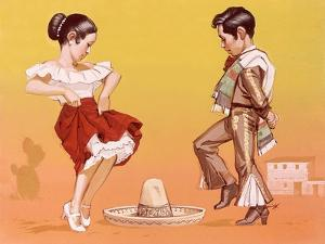 Mexican Children in Their National Costume by Angus Mcbride