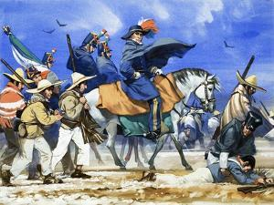 Santa Anna Led His Ill-Equipped Army on a Killing March Across the Frozen Plains of Coahuila by Angus Mcbride