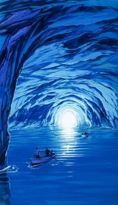 The Blue Grotto in Capri by Angus Mcbride