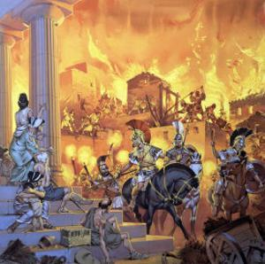 Unidentified Roman Attack by Angus Mcbride