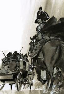 Unidentified Soldiers on Horse and in Cart by Angus Mcbride