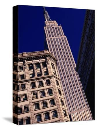 Empire State Building from Herald Square, New York City, New York, USA