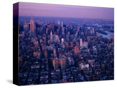 Mid-Town Cityscape from World Trade Center, New York City, New York, USA