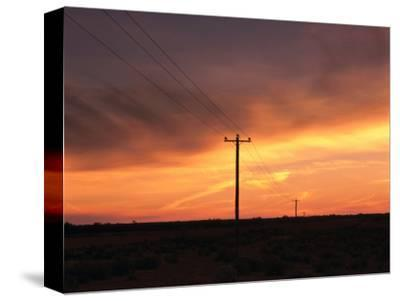 Outback Power Lines at Sunset, New South Wales, Australia
