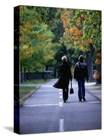 Strolling along the Esplanade, Boston, Massachusetts, USA