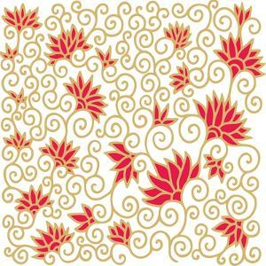 Decorative Floral Composition with Pomegranate Flowers by aniana