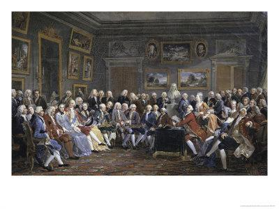 Reading of the Tragedy of Voltaire in Thesalon of Mrs. Jeoffrin