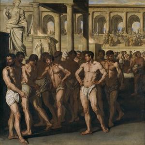 Gladiators by Aniello Falcone
