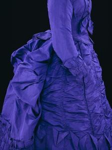 Aniline Violet Silk Satin with Revered Coat Lapel, c.1873